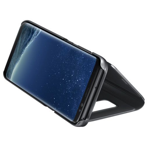 Samsung Clear View Standing Cover Black Galaxy S8