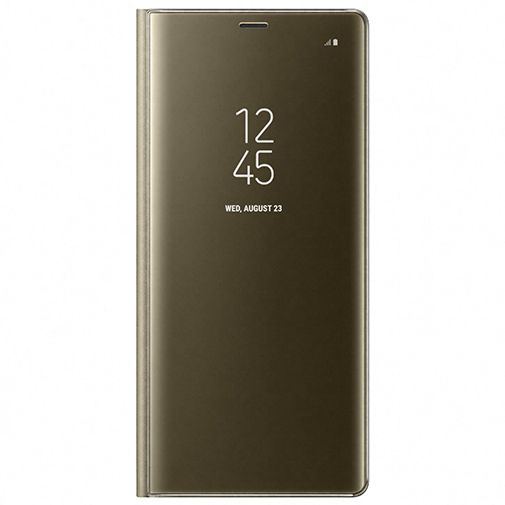 Samsung Clear View Standing Cover Gold Galaxy Note 8