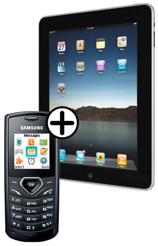 Samsung E1170 + Apple iPad 64GB Wi-Fi & 3G
