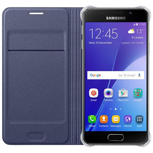 Samsung Flip Cover Black Blue Galaxy A3 (2016)