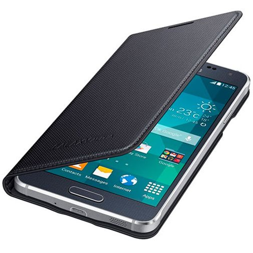 Samsung Flip Cover Black Galaxy Alpha