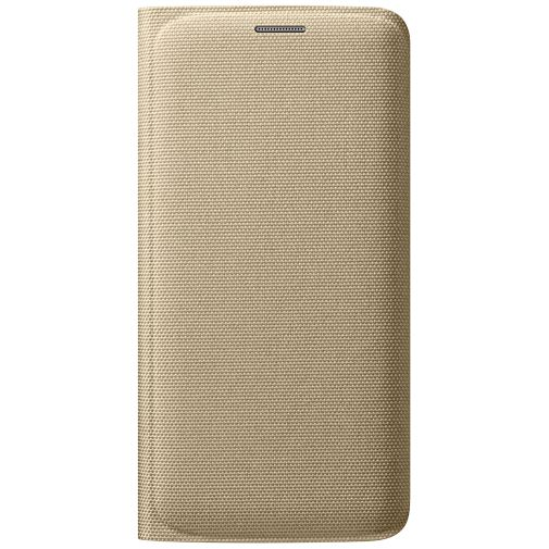 Samsung Flip Wallet Canvas Gold Galaxy S6 Edge