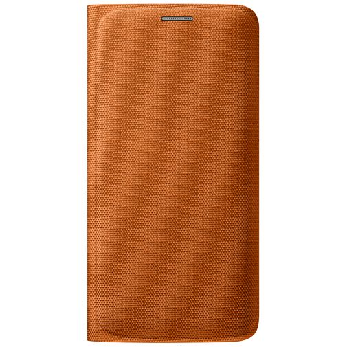 Samsung Flip Wallet Canvas Orange Galaxy S6 Edge