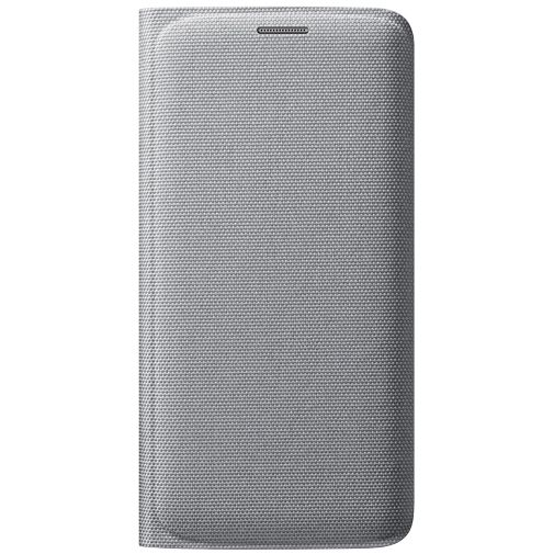 Samsung Flip Wallet Canvas Silver Galaxy S6 Edge