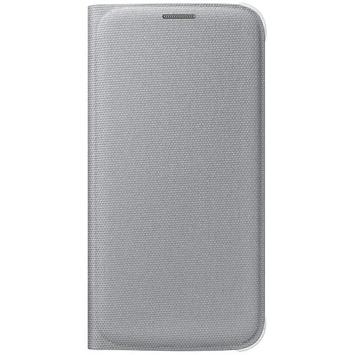Samsung Flip Wallet Canvas Silver Galaxy S6