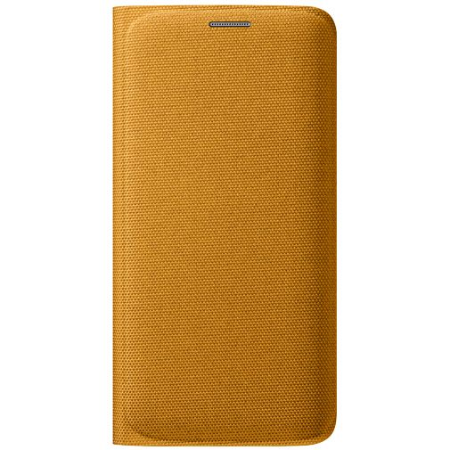Samsung Flip Wallet Canvas Yellow Galaxy S6 Edge