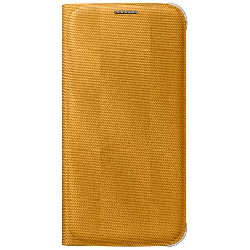 Samsung Flip Wallet Canvas Yellow Galaxy S6
