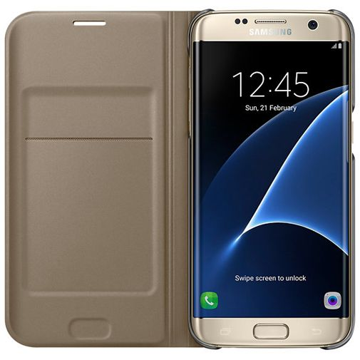 Samsung Flip Wallet Gold Galaxy S7 Edge
