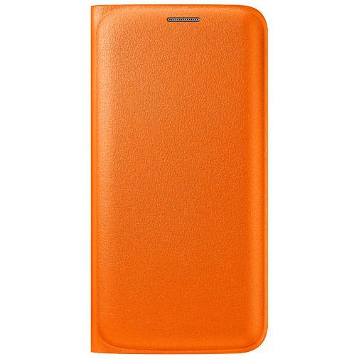 Productafbeelding van de Samsung Flip Wallet Original Orange Galaxy S6 Edge