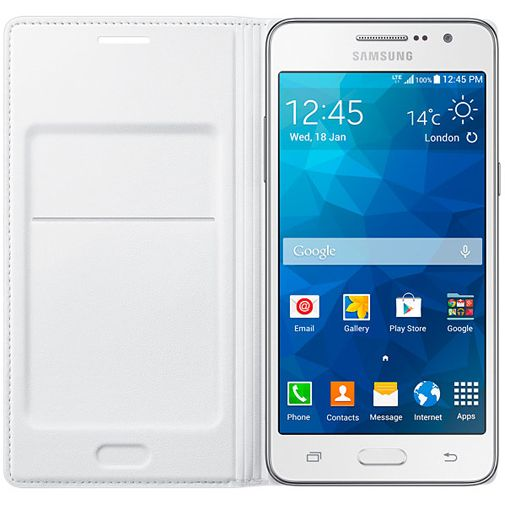 Samsung Flip Wallet White Galaxy Grand Prime (VE)
