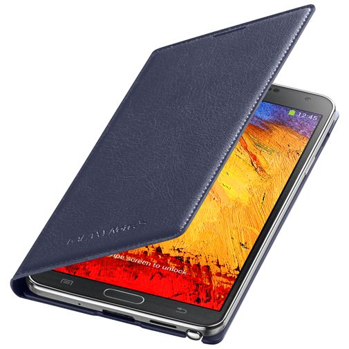 Samsung Galaxy Note 3 Flip Wallet Indigo Blue