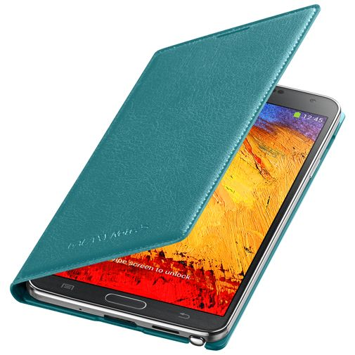 Samsung Galaxy Note 3 Flip Wallet Mint Blue