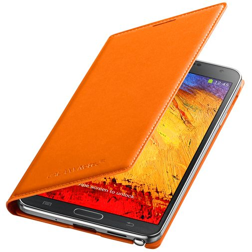 Productafbeelding van de Samsung Galaxy Note 3 Flip Wallet Orange