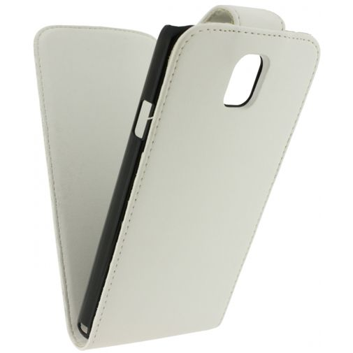 Xccess Leather Flip Case White Samsung Galaxy Note 3 N9005