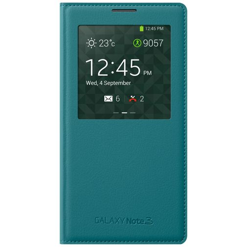 Productafbeelding van de Samsung Galaxy Note 3 S-View Cover Mint Blue