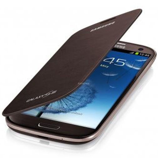 Samsung Galaxy S3 (Neo) Flip Cover Brown