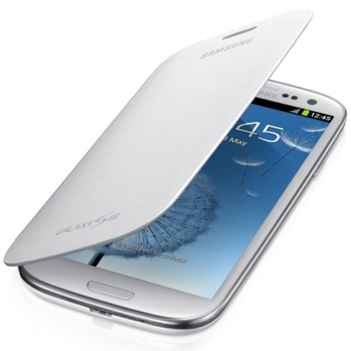 Samsung Galaxy S3 (Neo) Flip Cover Marble White