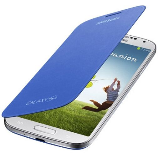 Productafbeelding van de Samsung Galaxy S4 Flip Cover Light Blue