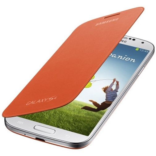 Samsung Galaxy S4 Flip Cover Orange