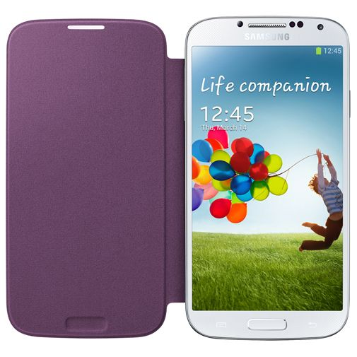 Samsung Galaxy S4 Flip Cover Purple