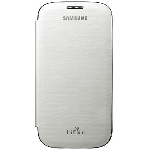 Productafbeelding van de Samsung Galaxy S3 (Neo) Flip Cover White La Fleur