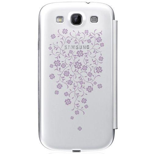 Samsung Galaxy S3 (Neo) Flip Cover White La Fleur