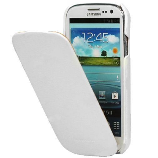 Samsung Galaxy S III Leather Flip Case White