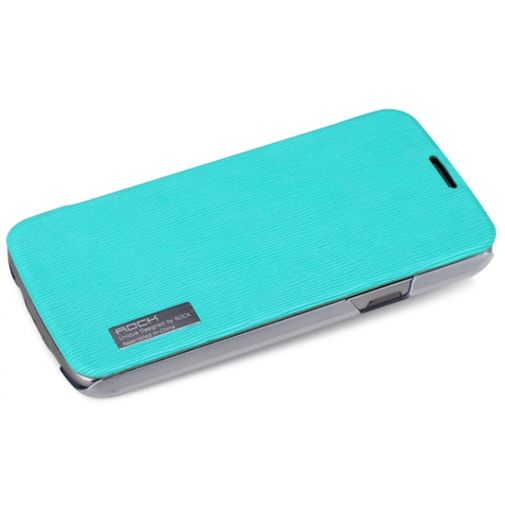 Rock Side Flip Case Samsung Galaxy S4 Active Elegant Shell Turquoise