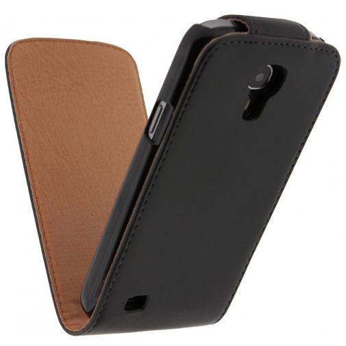 Xccess Leather Flip Case Black Samsung Galaxy S4 Mini