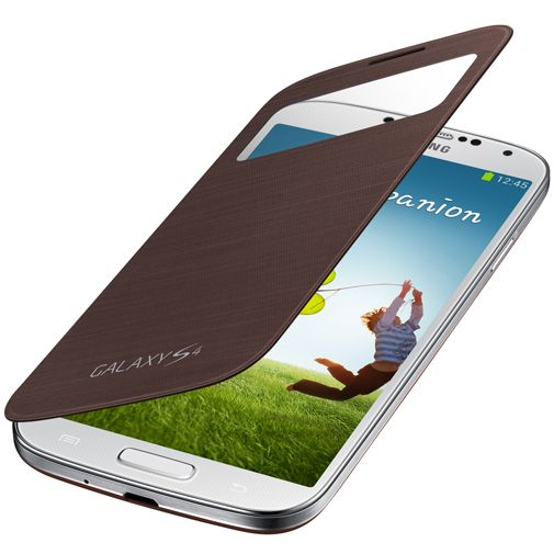 Productafbeelding van de Samsung Galaxy S4 S-View Cover Brown
