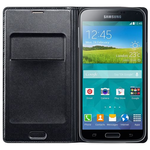 Samsung Flip Wallet Black Galaxy S5/S5 Plus/S5 Neo