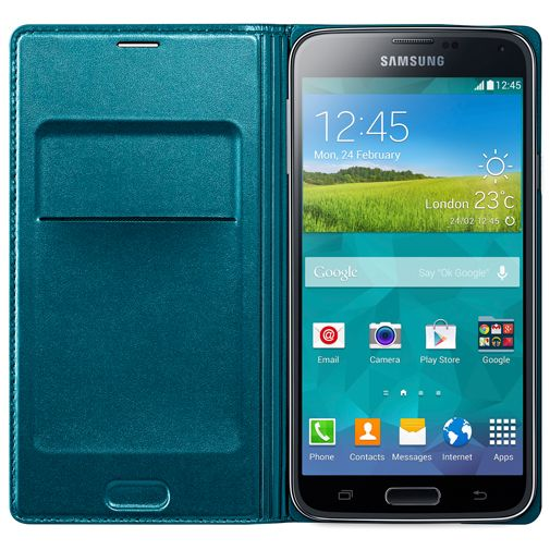 Samsung Flip Wallet Blue Galaxy S5/S5 Plus/S5 Neo