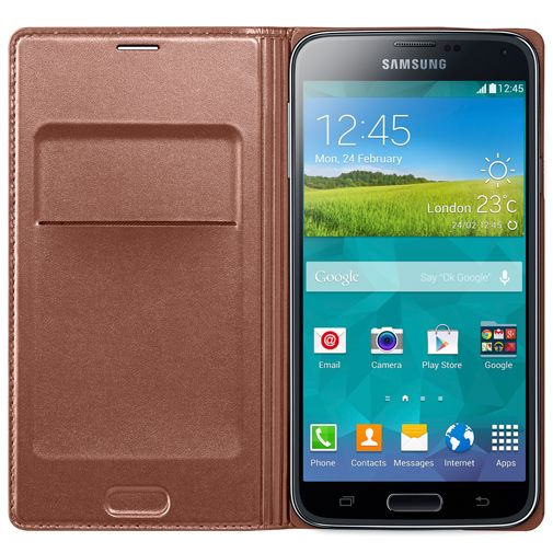 Samsung Flip Wallet Gold Galaxy S5/S5 Plus/S5 Neo