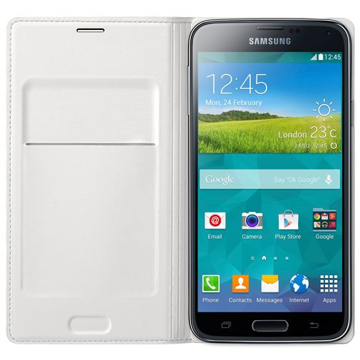 Samsung Flip Wallet White Galaxy S5/S5 Plus/S5 Neo