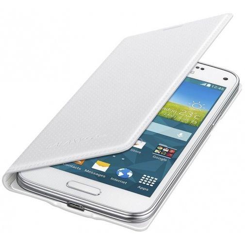 Samsung Galaxy S5 Mini Flip Cover Punch White