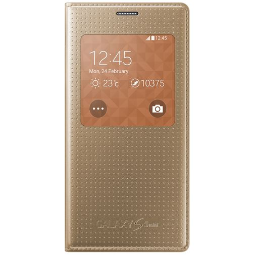 Samsung Galaxy S5 Mini S View Cover Punch Gold