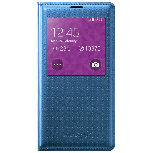 Samsung S View Cover Punch Blue Galaxy S5/S5 Plus/S5 Neo