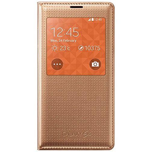 Productafbeelding van de Samsung S View Cover Punch Gold Galaxy S5/S5 Plus/S5 Neo