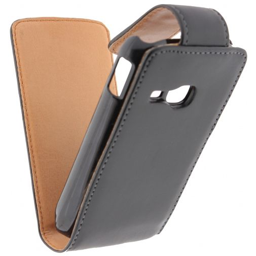 Xccess Leather Flip Case Black Samsung Galaxy Young S6310