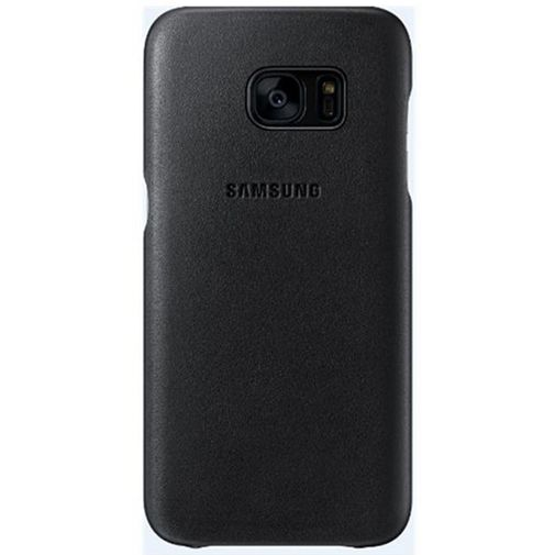 Samsung Leather Cover Black Galaxy S7 Edge