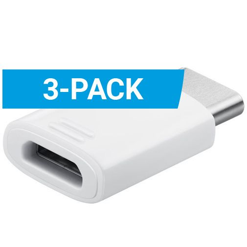Samsung Adapter MicroUSB naar USB-C 3-pack EE-GN930 White