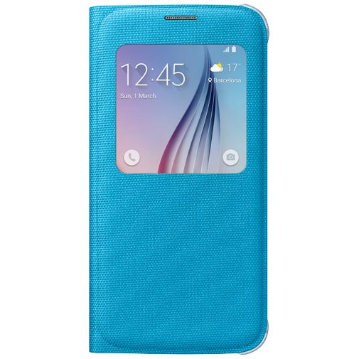 Samsung S View Cover Canvas Blue Galaxy S6