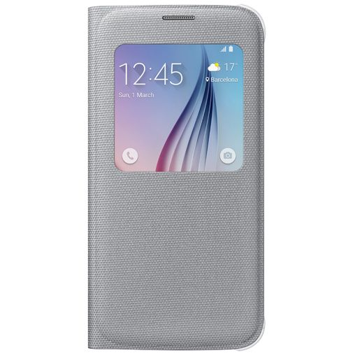 Samsung S View Cover Canvas Silver Galaxy S6