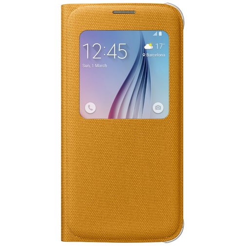 Samsung S View Cover Canvas Yellow Galaxy S6