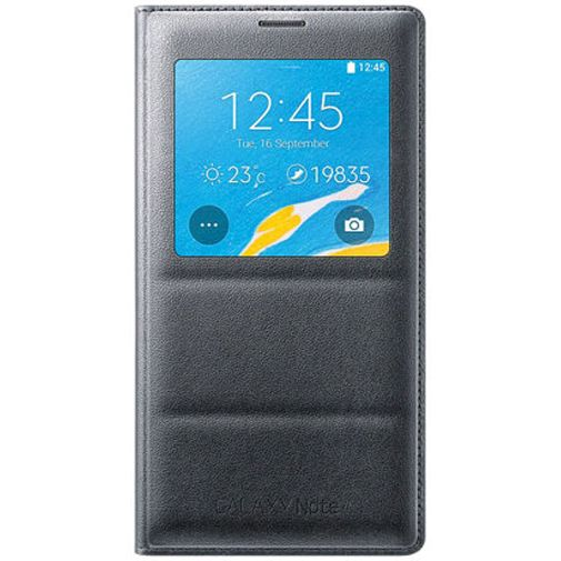 Productafbeelding van de Samsung S View Cover Charcoal Black Galaxy Note 4