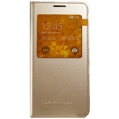 Productafbeelding van de Samsung S-View Cover Gold Galaxy Alpha