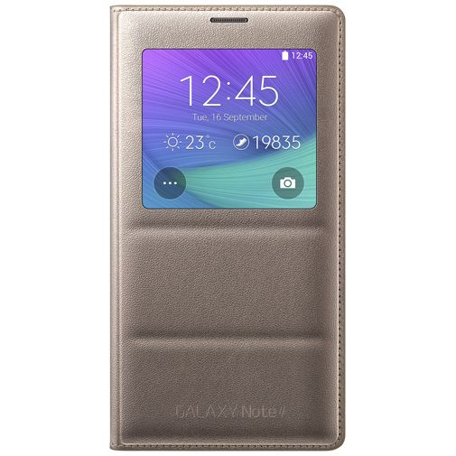 Samsung S View Cover Gold Galaxy Note 4