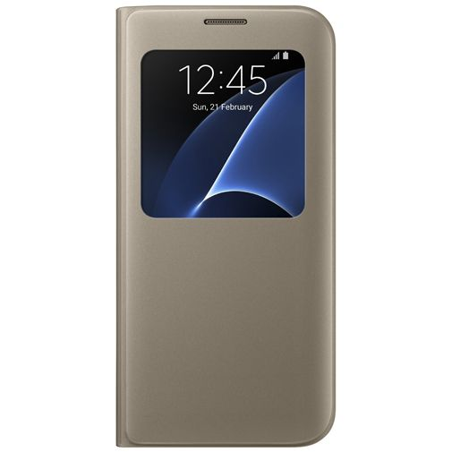 Samsung S View Cover Gold Galaxy S7 Edge