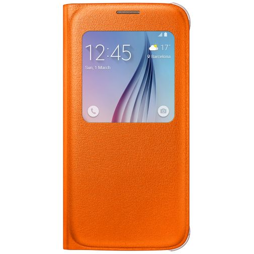 Samsung S View Cover Original Orange Galaxy S6