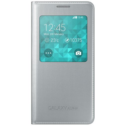 Samsung S View Cover Silver Galaxy Alpha